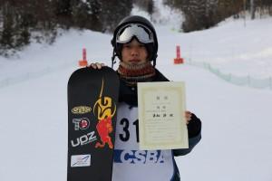 JSBA全日本学生DUEL SLALOMで優勝した栗栖渉選手