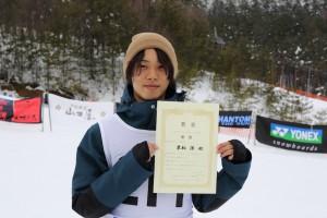 JSBA全日本学生Giant Slalomで優勝した栗栖選手