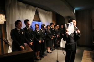 関西大学体育会スキー競技部 挨拶する平山淳監督