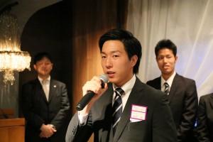 主将 岡村 海(4フリースタイル)