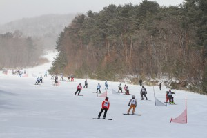第28回JSBA全日本学生選手権大会は長野県よませ温泉スキー場にて中部地区大会と併催された